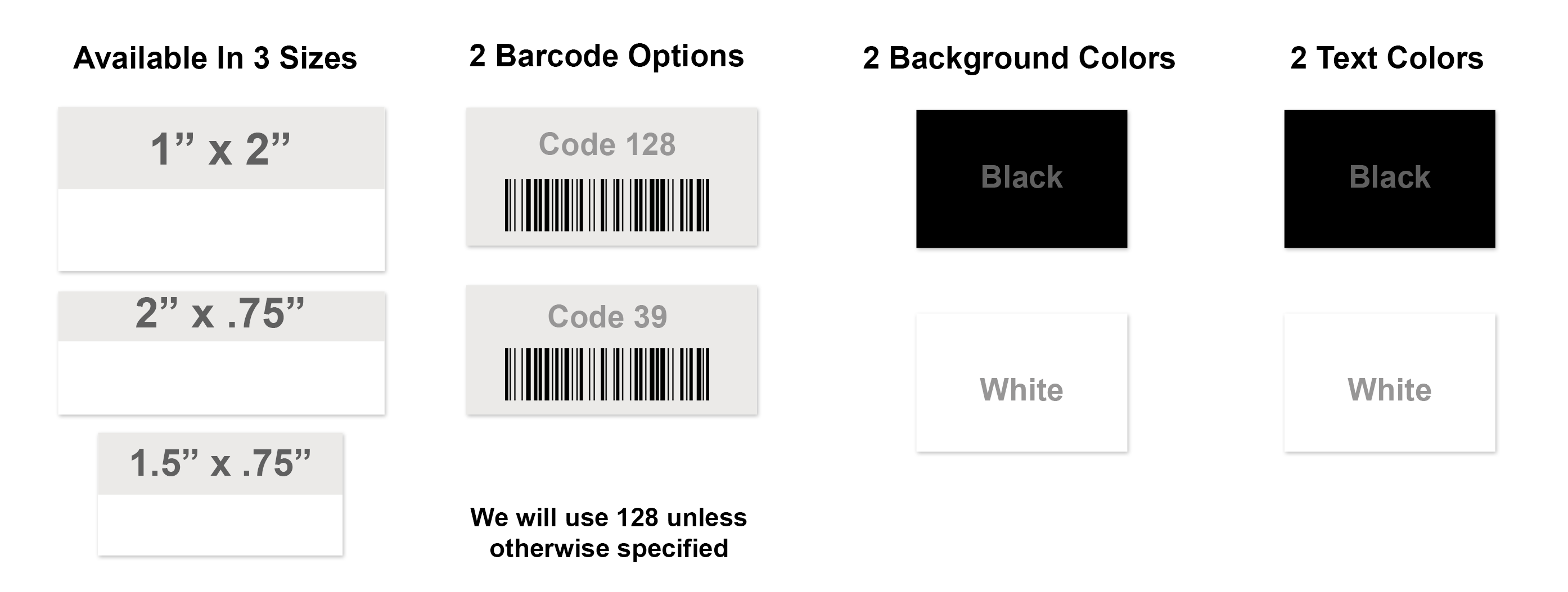 Economy Asset Tag with Barcode Options