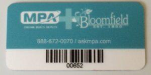 MPA +BLOOMFIELD ASSET TAG